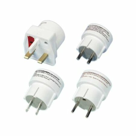 Vivanco Reisestecker-Set RS4W (4 Stück)