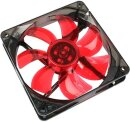 Cooltek Silent Fan 120 LED, rot, 120mm