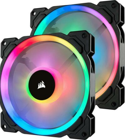 Corsair LL Series LL140 RGB, 140mm, 2er-Pack, LED-Steuerung
