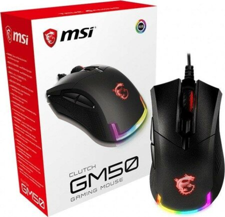 MSI Clutch GM50 Gaming Mouse schwarz, USB